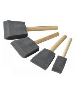Rustins Foam Brush Set (1 2 3 & 4in)