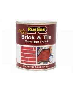 Rustins Quick Dry Brick & Tile Paint Matt Red Range