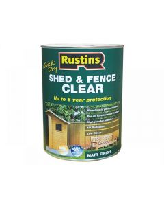 Rustins Quick Dry Shed and Fence Clear Protector Range