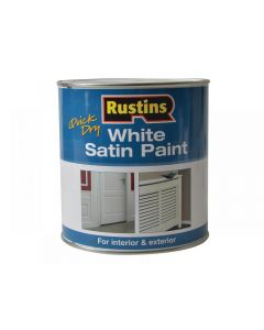 Rustins Quick Dry White Satin Paint Range