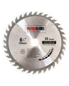 Saxton Blades TCT Circular Saw Blade 160mm x 20mm x 36T TCT16036T