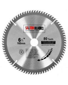 Saxton Blades TCT Circular Saw Blade 160mm x 20mm x 80T TCT16080T