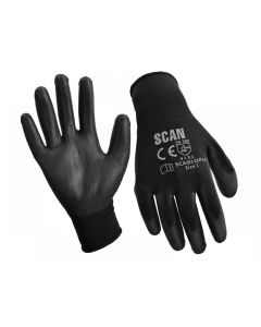 Scan Black PU Coated Gloves Range