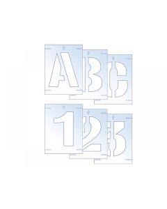 Scan Letter & Number Stencil Kit Range