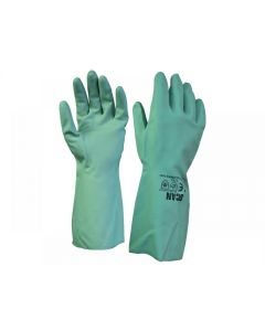 Scan Nitrile Gauntlets with Flock Lining Large (Size 9) 2ANP33G-24