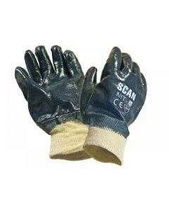 Scan Nitrile Knitwrist Heavy-Duty Gloves