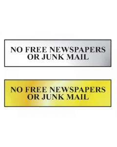 Scan No Free Newspapers Or Junk Mail Sign Range
