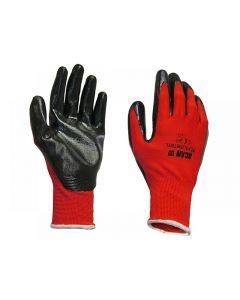 Scan Palm Dipped Black Nitrile Gloves Range