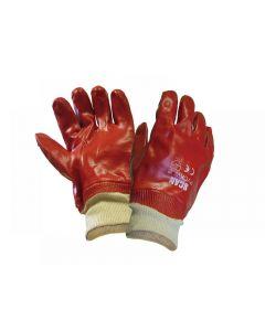 Scan PVC Knitwrist Gloves - Large (Size 9)