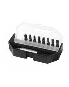 Stanley Insert Bit Set Slotted/ Phillips/ Pozidriv 10 Piece