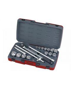 Teng Tools T3418-6 Socket Set of 18 Metric 3/4in Drive T3418-6
