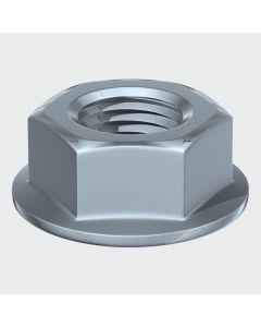 TIMco Hex Flange Nut DIN 6923 - BZP Range