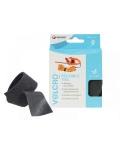 Velcro VELCRO Brand ONE-WRAP Reusable Ties 30mm x 5m Black