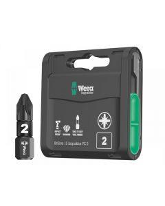 Wera Bit-Box 15 Impaktor PZ2 x 25mm 15 Piece