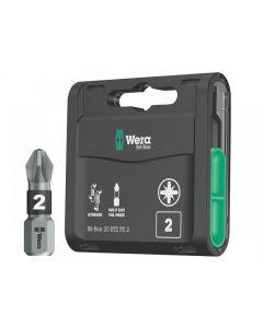 Wera Bit-Box 20 BiTorsion Bits PZ2 x 25mm 20 Piece