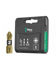 Wera Bit-Box 20 BTH BiTorsion Extra-Hard Bits PZ2 x 25mm 20 Piece