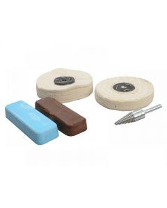 Zenith Polishing Kit Non Ferrous Metal - Brown & Blue