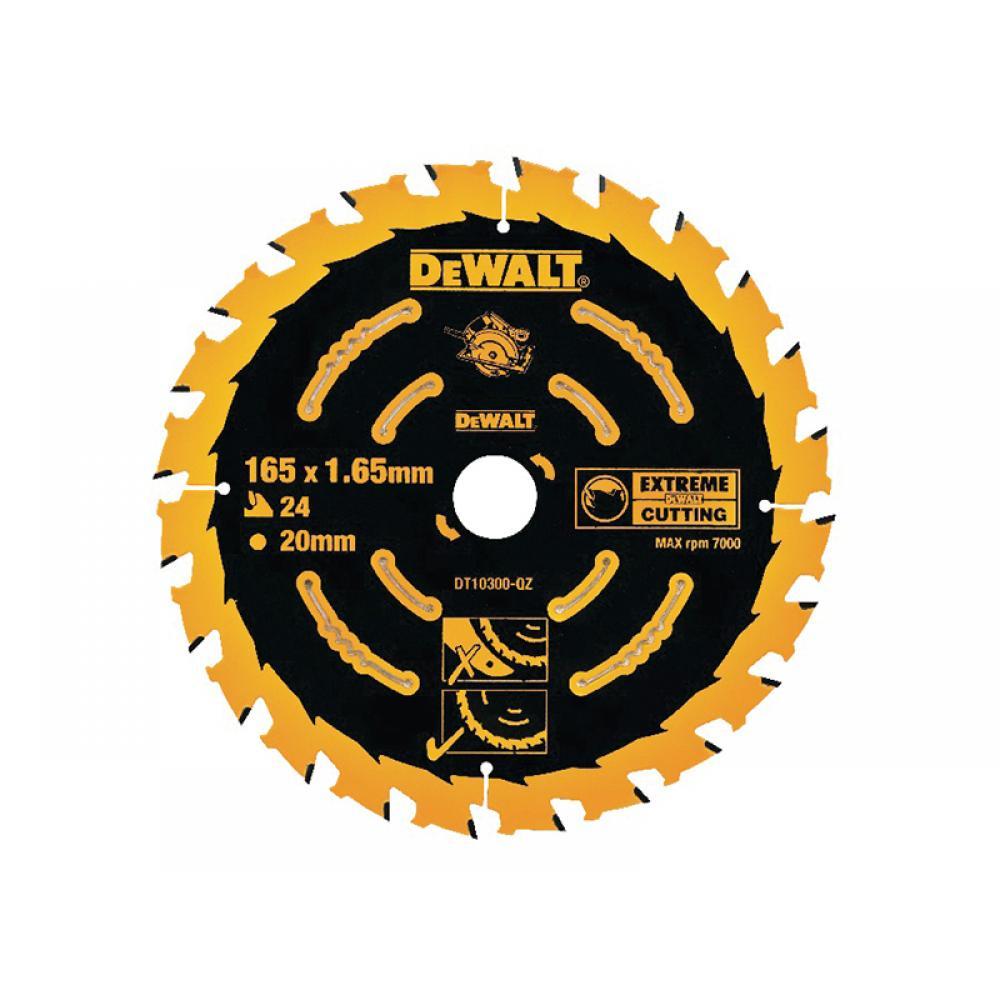 DeWalt Extreme Framing Circular Saw Blade 165 x 20mm x 24T DT10300-QZ