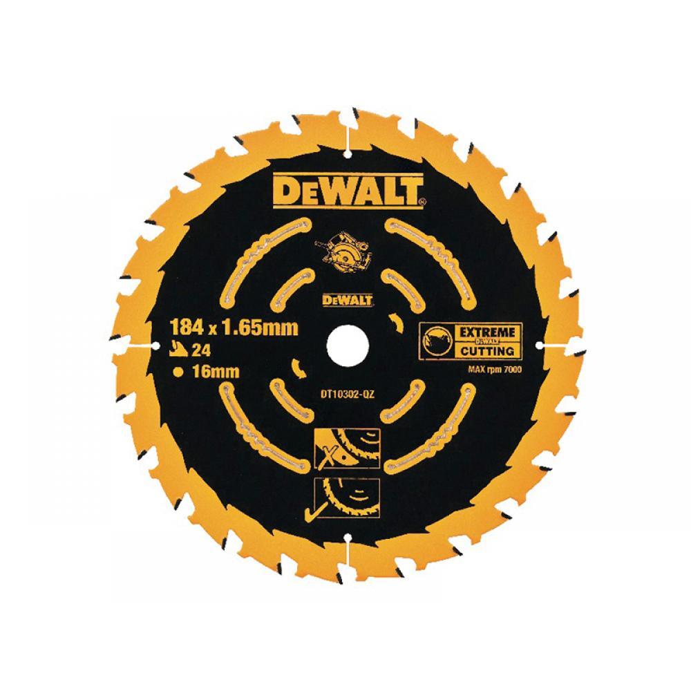 DeWalt Extreme Framing Circular Saw Blade 184 x 16mm x 24T DT10302-QZ