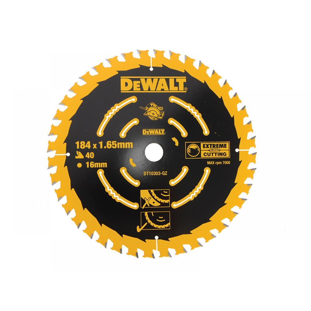 DeWalt Extreme Framing Circular Saw Blade 184 x 16mm x 40T DT10303-QZ