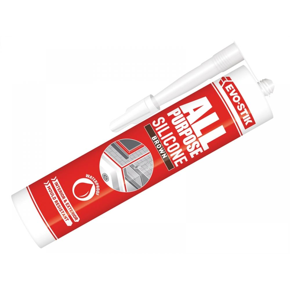 Evo-Stik 112889 All Purpose Flex Silicone Sealant Brown C20