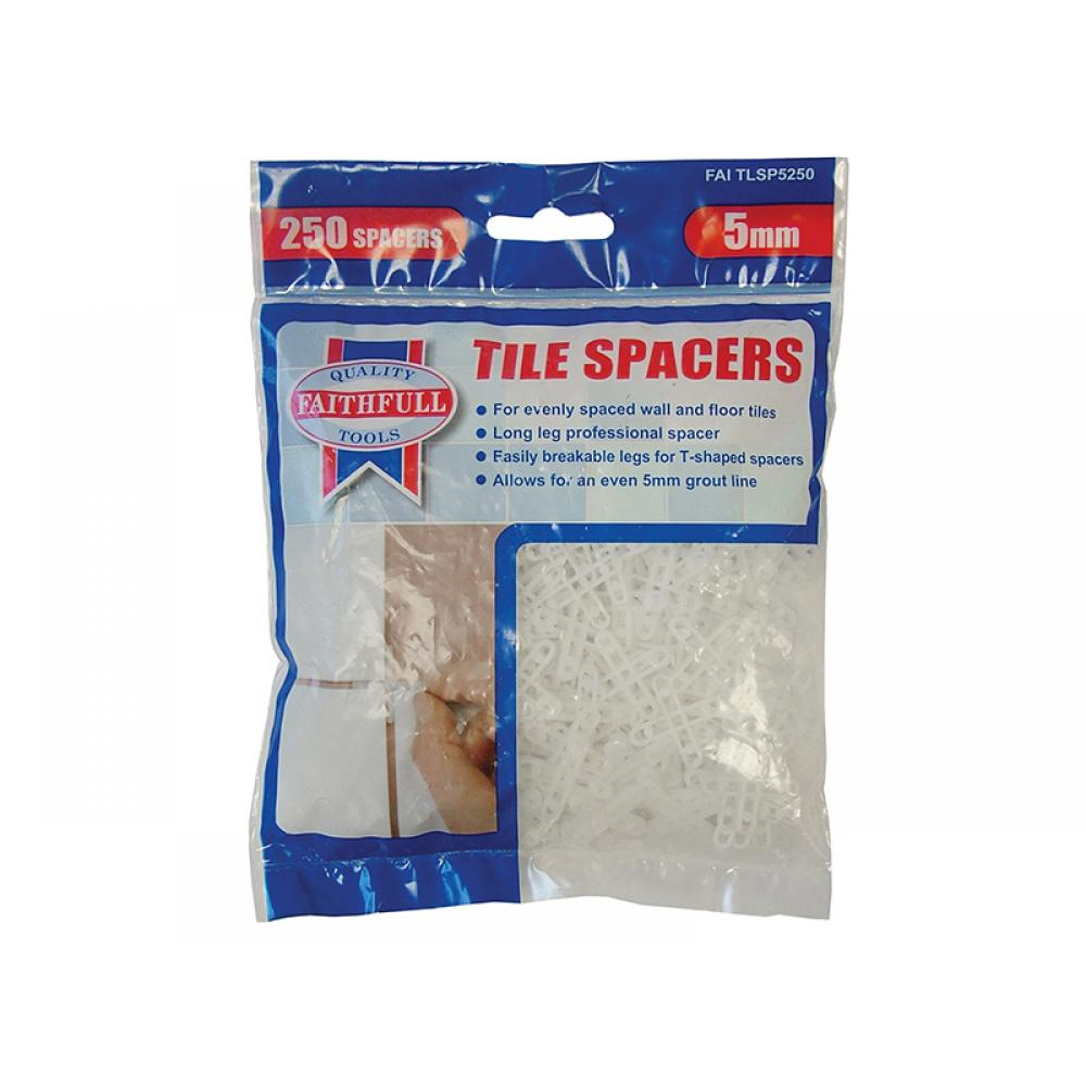 Faithfull Tile Spacer Long Leg 5mm Bag of 250 5-250
