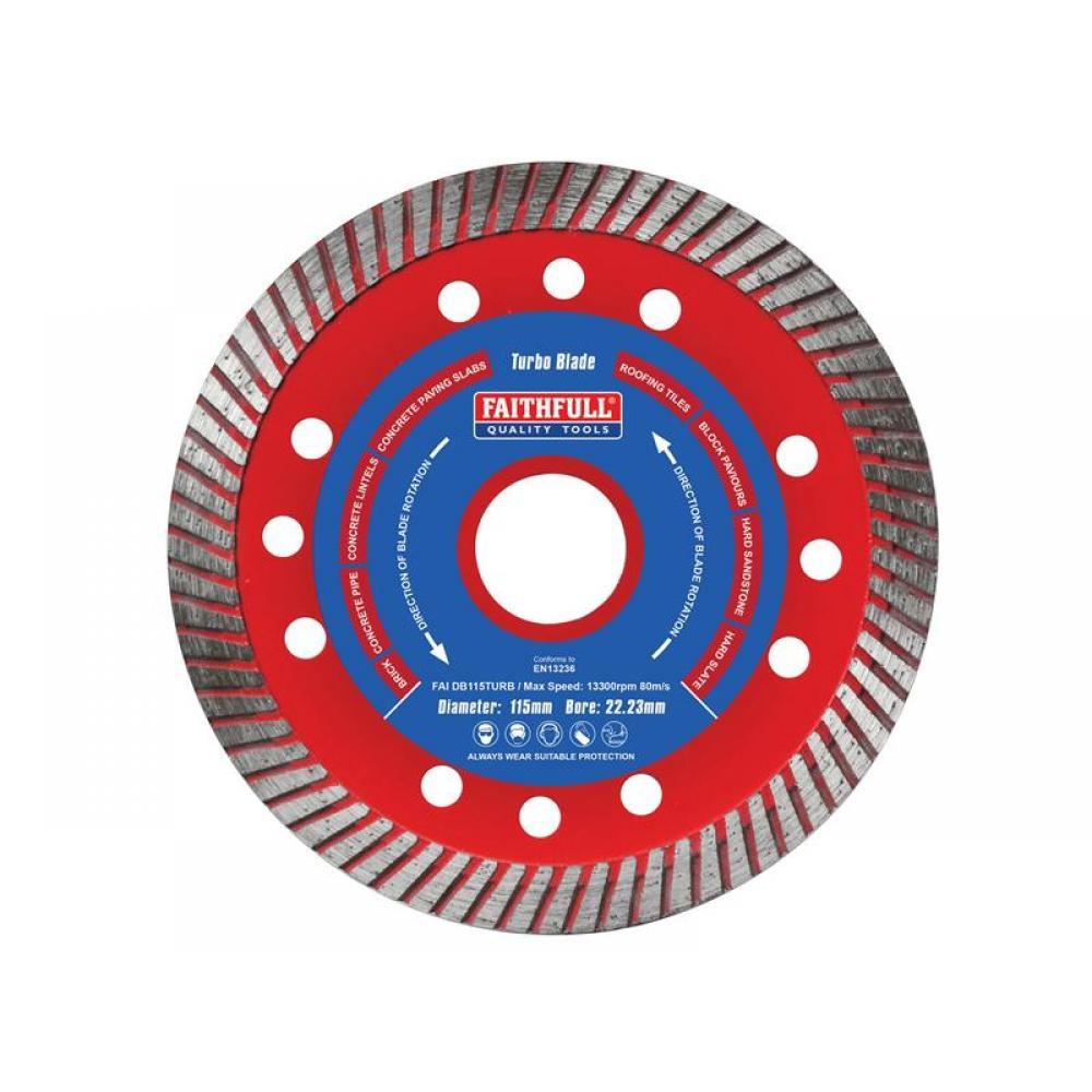 Faithfull Turbo Cut Diamond Blade 115 x 22mm
