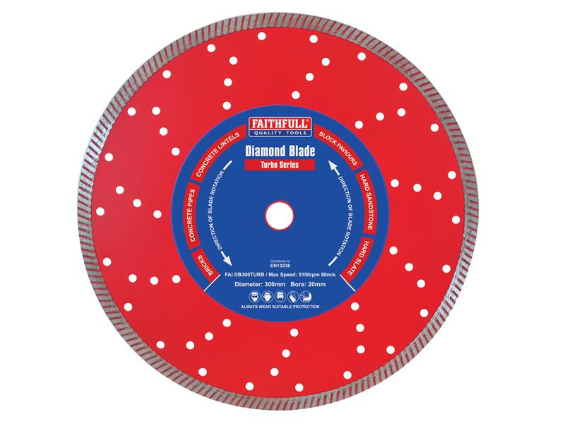 Faithfull Turbo Cut Diamond Blade 300 x 20mm