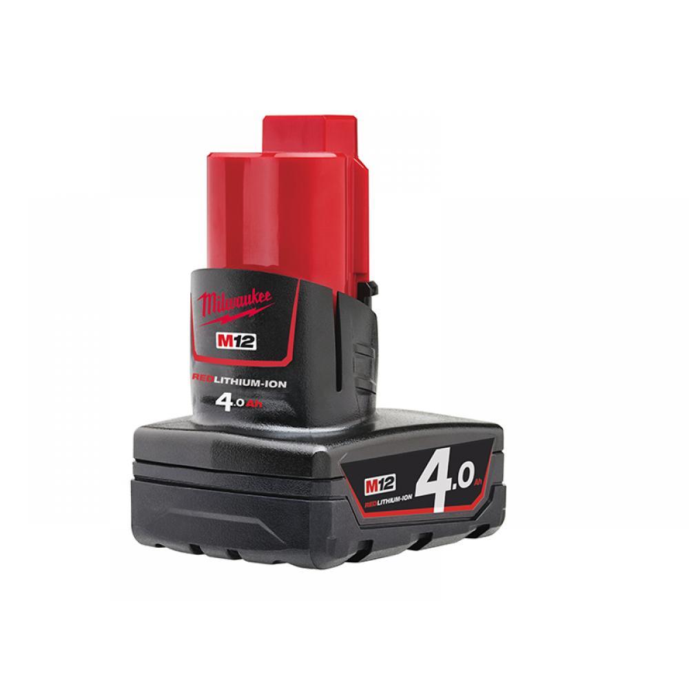 Milwaukee M12 B4 REDLITHIUM-ION Battery 12V 4.0Ah Li-ion