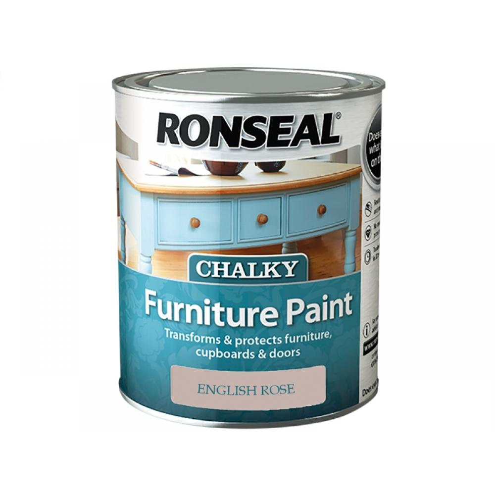 Ronseal Chalky Furniture Paint English Rose 750ml