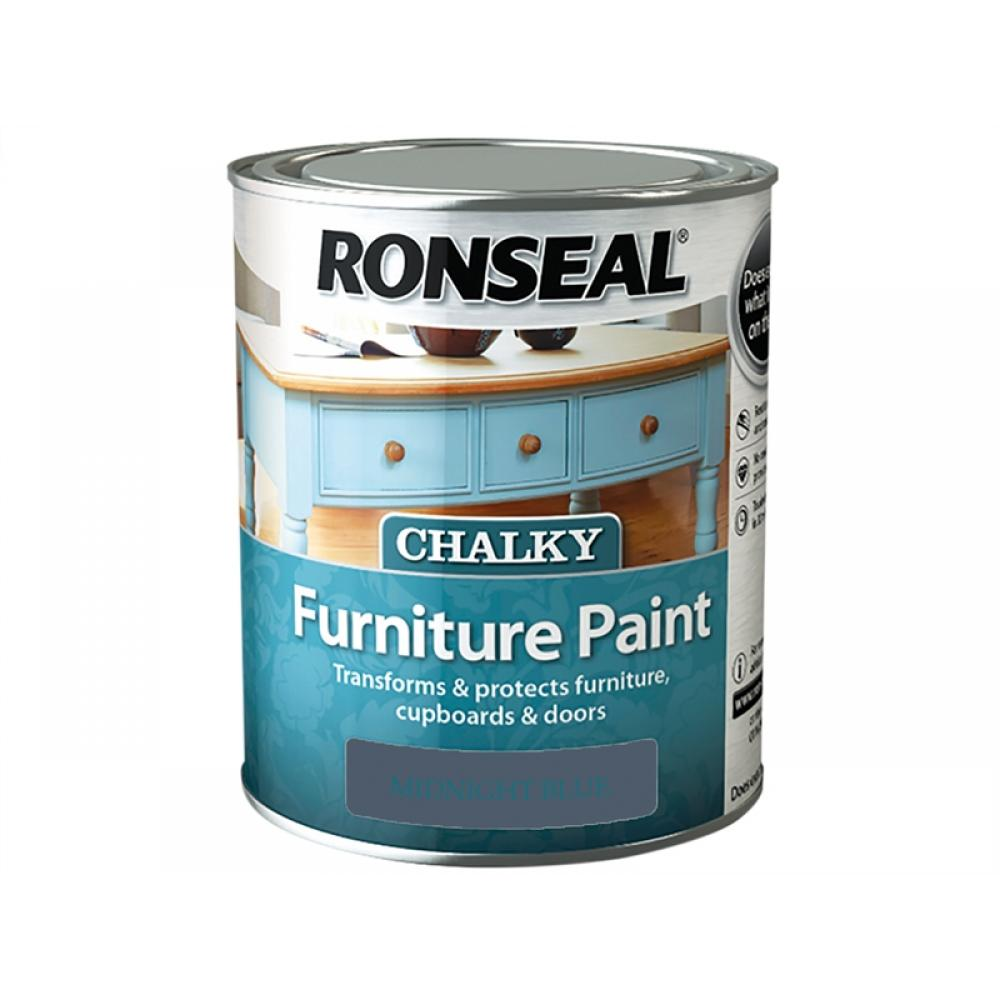 Ronseal Chalky Furniture Paint Midnight Blue 750ml