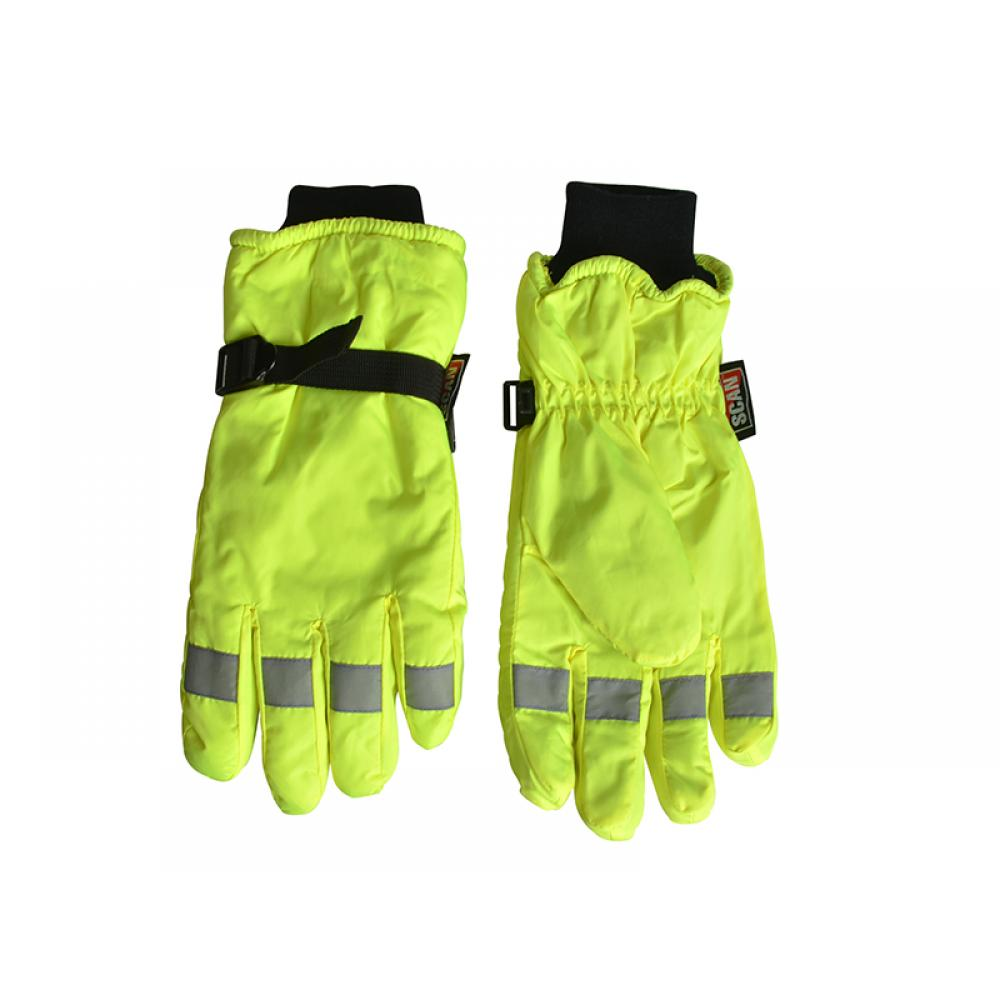 Scan Hi-Visibility Gloves Yellow - Extra Large