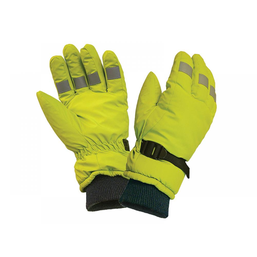 Scan Hi-Visibility Gloves Yellow - Large