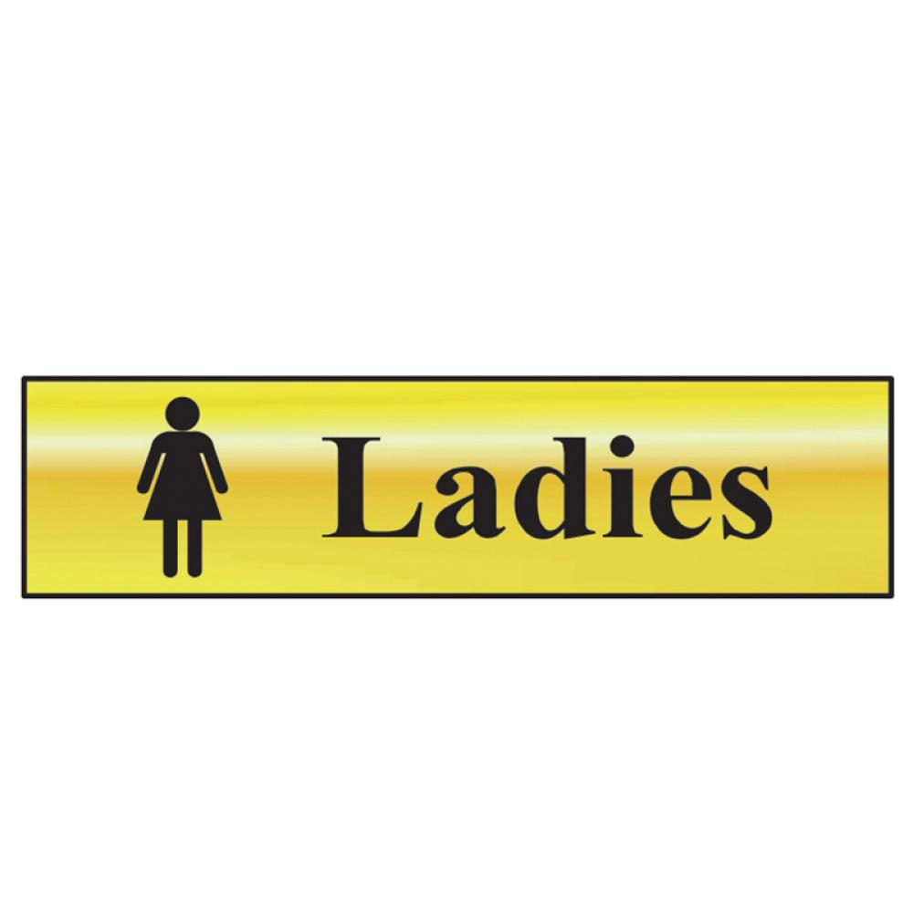 Scan Ladies - Polished Brass Effect 200 x 50mm