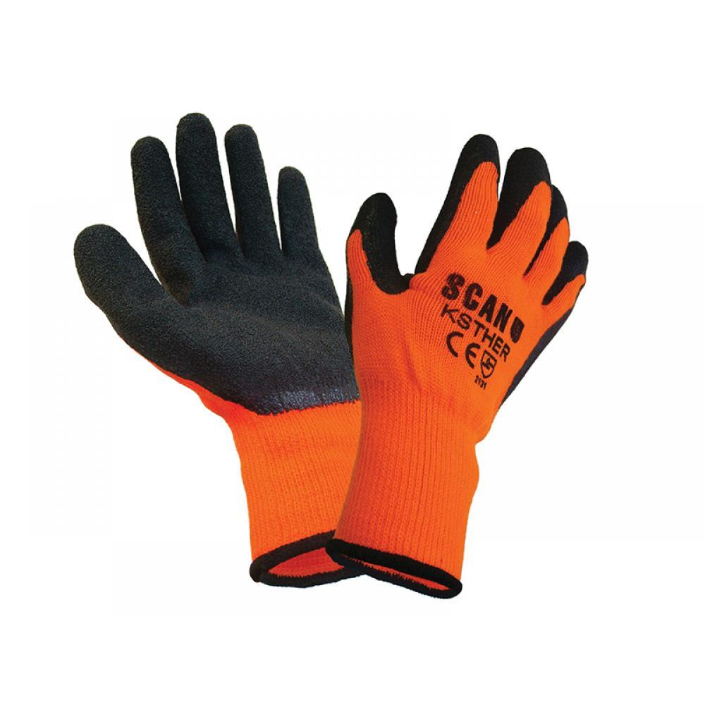 Scan Thermal Latex Coated Gloves - Large (Size 9)