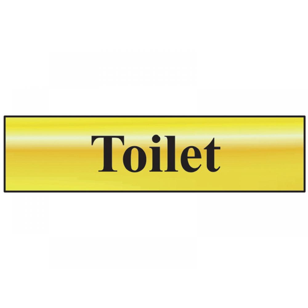 Scan Toilet - Polished Brass Effect 200 x 50mm