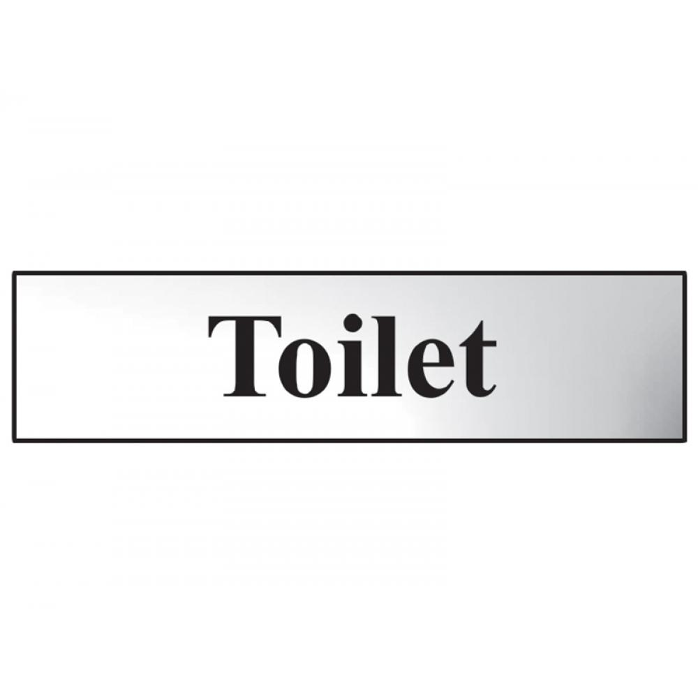 Scan Toilet - Polished Chrome Effect 200 x 50mm