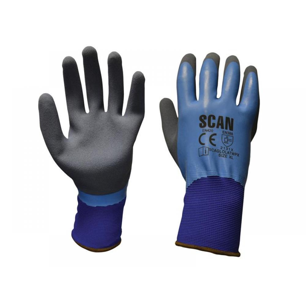 Scan Waterproof Latex Gloves - Extra Large (Size 10)