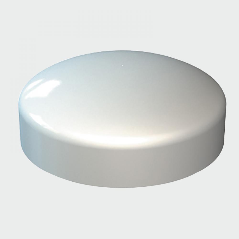TIMco Plastidome Screw Cap - WHITE WHITE Pack qty 100